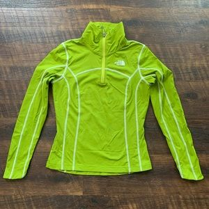The North Face Women's Green Quarter Zip Pullover